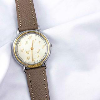 Hermes - 【仕上済】エルメス メテオール コンビ レディース メンズ ボーイズ 腕時計