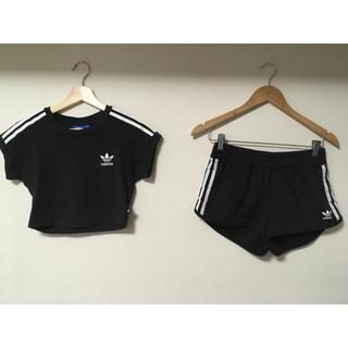 アディダス(adidas)のadidas originals セットアップ ブラック(Tシャツ/カットソー(半袖/袖なし))