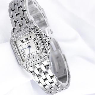 Cartier - 【OH済】カルティエ パンテール SM シルバー ダイヤ レディース 腕時計
