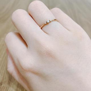 4℃ - 4℃  ピンクゴールド 指輪 リング #10  ダイヤモンド