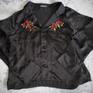 WEGO - 刺繍レーヨンシャツ