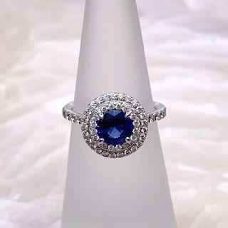 ティファニー(Tiffany & Co.)の【希少】 超美品 ティファニー ソレスト サファイヤ ダイヤモンド リング(リング(指輪))