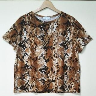 ザラ(ZARA)のZARA TRF パイソン柄 カットソー(Tシャツ(半袖/袖なし))