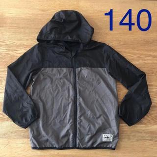 シマムラ(しまむら)の140 アウター  男の子 ブラック パーカー 薄手 ジャンパー 収納(ジャケット/上着)
