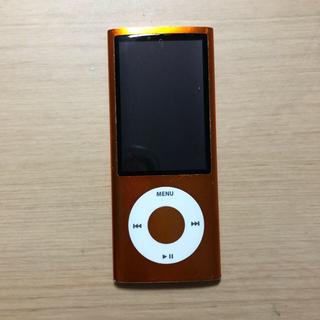 アップル(Apple)のiPod  nano 第5世代(オレンジ)(ポータブルプレーヤー)