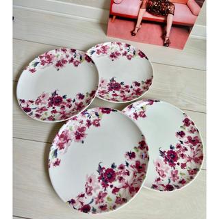 Francfranc - 新品 フランフラン モンルージュ プレート お皿 食器 花柄 ピンク 4枚セット