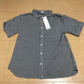 ジーユー(GU)のGU ギンガムチェックシャツ(シャツ/ブラウス(半袖/袖なし))