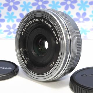 オリンパス(OLYMPUS)のなめらか電動ズーム❤️オリンパス 14-42mm EZ❤️パンケーキレンズ❤️(レンズ(ズーム))