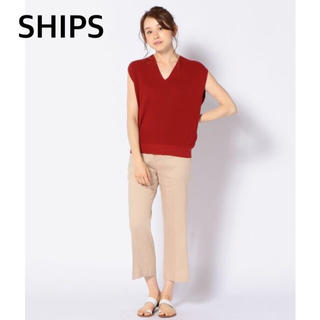 SHIPS - SHIPS ❁ スリーブレス Vネックニット