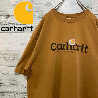 carhartt - 【超人気】カーハート carhartt☆ビッグロゴ ブラウン 半袖 Tシャツ