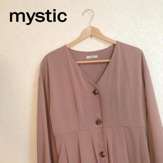 mystic - mystic ❁ くすみピンク ワンピース