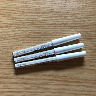 シセイドウ(SHISEIDO (資生堂))の資生堂眉墨鉛筆3番ブラウン  アイブロウペンシル未使用未開封 3本セット(アイブロウペンシル)