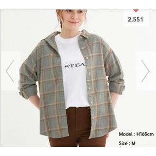 ジーユー(GU)のフランネルチェックシャツ(シャツ/ブラウス(長袖/七分))