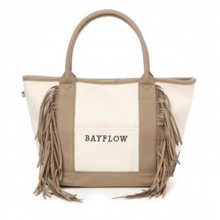 ベイフロー(BAYFLOW)のBAYFLOW フェイクスウェードフリンジロゴトートM(トートバッグ)