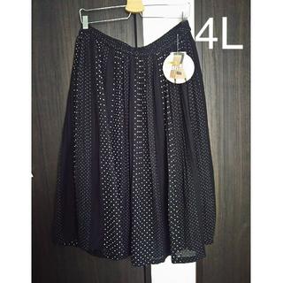 しまむら - プリーツスカート  4L  大きいサイズ