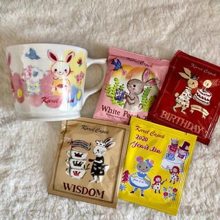カレルチャペック☆マグカップ&人気の紅茶4P(茶)