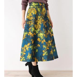 OPAQUE.CLIP - オペークドットクリップ   花柄ジャガードスカート