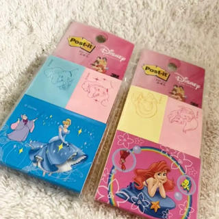 ディズニー(Disney)の【未開封】ポストイット ディズニープリンセス 2点セット(ノート/メモ帳/ふせん)