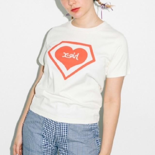 X-girl(エックスガール)のコラボTシャツ(白) レディースのトップス(Tシャツ(半袖/袖なし))の商品写真