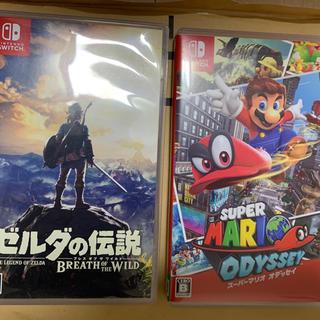 ニンテンドースイッチ(Nintendo Switch)のケイン様専用 ブレスオブザワイルドとスーパーマリオオデッセイのセット(家庭用ゲームソフト)