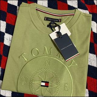 TOMMY HILFIGER - コンパス刺繍ロゴTシャツ オリーブ Mサイズ TOMMY HILFIGER