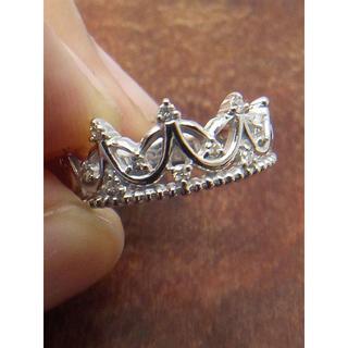人気です!ティアラモチーフです!K18WGダイヤリング 10号(リング(指輪))