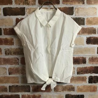 エフデ(ef-de)の【ef-de】前縛り袖ロールアップシャツ(シャツ/ブラウス(半袖/袖なし))