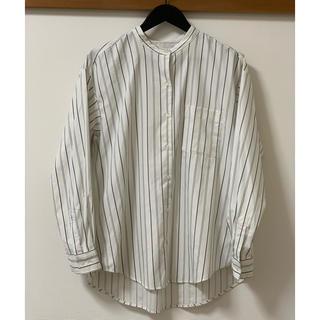 ジーユー(GU)のGU ストライプシャツ ホワイト ブラック(シャツ/ブラウス(長袖/七分))