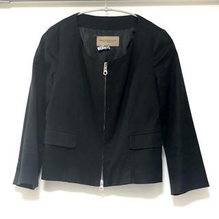 プロポーションボディドレッシング(PROPORTION BODY DRESSING)のPROPORTION*ノーカラージャケット サイズ2 七分丈 クリーニング済(ノーカラージャケット)