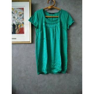 マカフィー(MACPHEE)のmacphee マカフィー コットン シルク 半袖 Tシャツ(Tシャツ(半袖/袖なし))
