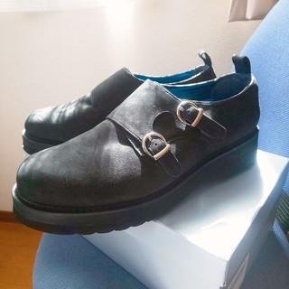 HARE - HARE ダブルモンク スエード シューズ カジュアル ドレス ビジネス 革靴