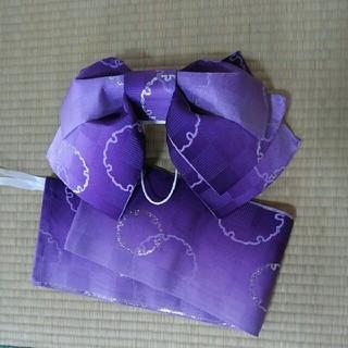 新品utatane紫グラデ作り帯 浴衣つくり帯(浴衣帯)