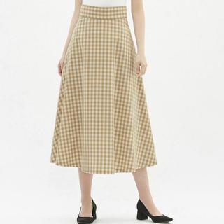 ジーユー(GU)のgu  ギンガム チェック スカート Sサイズ(ロングスカート)