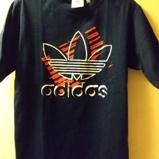 アディダス(adidas)のアディダスネイビーTシャツメンズSサイズ(Tシャツ/カットソー(半袖/袖なし))