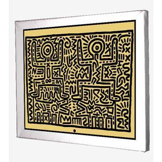 63-Keith Haring キースへリング キャンバスアート 模写(ボードキャンバス)