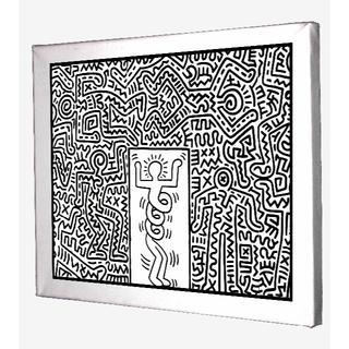 65-Keith Haring キースへリング キャンバスアート 模写(ボードキャンバス)