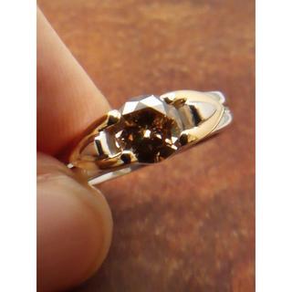 人気の大粒ブラウンです!Pt900/K18ダイヤリング 12号(リング(指輪))