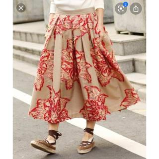IENA - IENA LA BOUCLE フラワージャガードボリュームスカート
