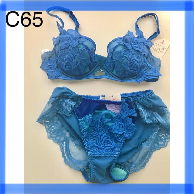 Wacoal(ワコール)の『整える』リュクスフラワー刺繍C65 レディースの下着/アンダーウェア(ブラ&ショーツセット)の商品写真