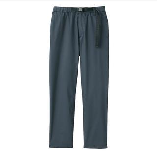 MUJI (無印良品) - 無印良品 ストレッチ高密度織りクロップドパンツ 婦人M・ダークグレー