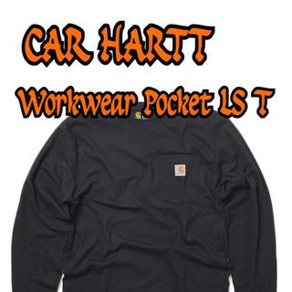 カーハート(carhartt)の【新品未使用】Carhartt ポケット付き ロングT オーバーサイズ ブラック(Tシャツ/カットソー(七分/長袖))