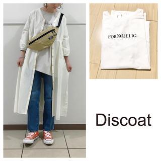Discoat - 新品 ディスコート シンプルロゴ7分袖Tシャツ オフホワイト