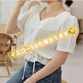ディーホリック(dholic)の【SALE】 韓国ファッション チュニック 黄色 半袖 ブラウス(チュニック)