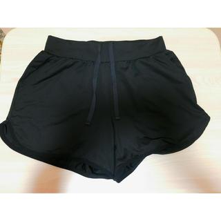 ジーユー(GU)のGUスポーツショートパンツ黒(ウェア)