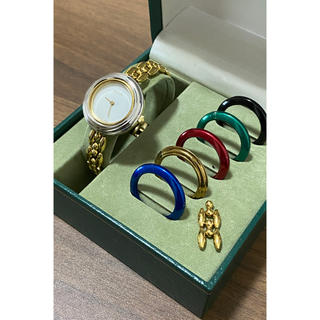 Gucci - グッチ GUCCI チェンジベゼル レディース 時計 腕時計 稼働中