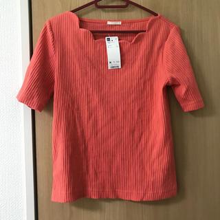 ジーユー(GU)のGU/リブ/スカラップネックT/半袖(Tシャツ(半袖/袖なし))