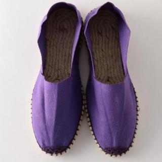 ビューティアンドユースユナイテッドアローズ(BEAUTY&YOUTH UNITED ARROWS)のエスパドリーユ 36 紫 steaven alan 22.5センチの方に。(その他)