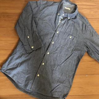 ジーユー(GU)の試着のみ GU ドットシャツ メンズ Lサイズ(シャツ)