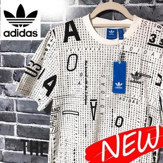 アディダス(adidas)の【新品】adidas  アディダス 総柄 Tシャツ トレフォイルロゴ  Mサイズ(Tシャツ/カットソー(半袖/袖なし))