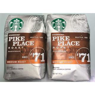 スターバックスコーヒー(Starbucks Coffee)のスターバックス パイクプレイスロースト (粉) 793gx2(コーヒー)